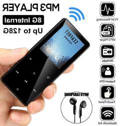 Portable bluetooth MP3 MP4 Music Player FM Voice Recorder Su