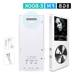 MYMAHDI 8GB Portable MP3 Player, Music P