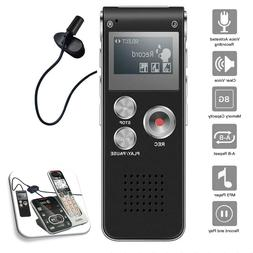 Voice Activated Digital Recorder 8GB USB w Microphone Landli
