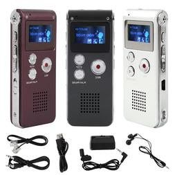Rechargeable 8GB Digital Audio/Sound/Voice Recorder Dictapho