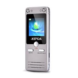 AGPtEK 8GB Rechargeable Digital Voice Recorder with Built-in