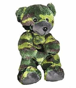 "8"" Recordable Camoflauge Military Bear w/ 10 Second Recorder"