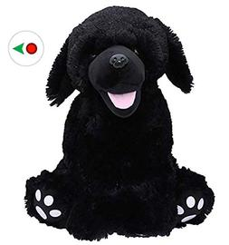"Recordable 16"" Plush Shadow the Black Labrador w/20 Second D"