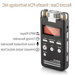 EVISTR Recorder voice Digital 8GB Dictaphone Sound quality P