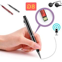 Spy Digital Voice Recorder Pen USB Mini Portable Rechargeabl