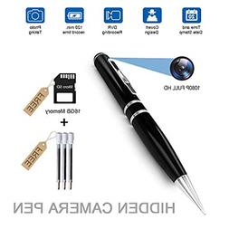 Fuvision 16GB 2K HD Spy Pen Camera Video Recorder with Loop