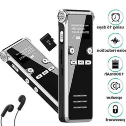 Spy Voice Activated Recorder Digital Rechargeable Mini Micro