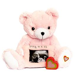 My Baby's Heartbeat Bear - Vintage Gender Reveal Pink Bear S