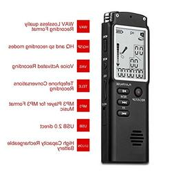 T60 Professional Digital Voice Recorder Time Display Dictaph