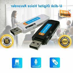 USB Pen Disk Flash Drive Digital Audio Voice Recorder charge