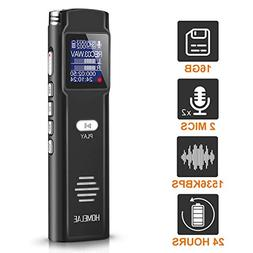 Digital Voice Activated Recorder,16GB Mini Sound Audio Rec