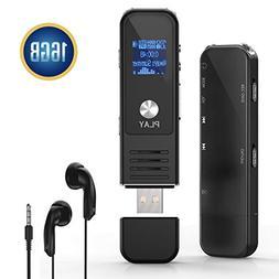 Digital Voice Activated Recorder,Lamyik 16GB Sound Audio Rec