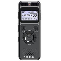 Digital Voice Activated Recorder,Yaergor 8GB 1536Kbps Sound