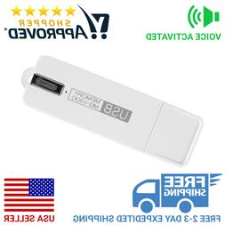 Voice Activated USB Flash Drive Voice Recorder and 25 Day St