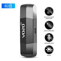 Digital Voice Recorder, Voice Activated Recorder & 8GB U Dis