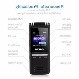 DGFAN Voice Recorder, 560 Hours Rechargeable 8GB Audio Voice