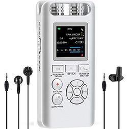 Aomago Digital Voice Recorder 8GB - A19 Digital Recorder Mee