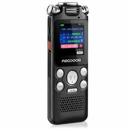 BOOCOSA Voice Recorder 8GB Audio Sound Portable Rechargeable