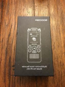 BOOCOSA voice recorder [8GB dual microphone built speakers n