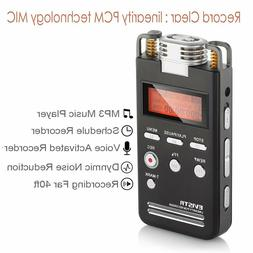 Voice Recorder 8GB Pro PCM 1536K Clear Stereo Audio by EVIST