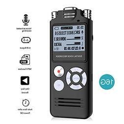 Digital Voice Recorder,ABLEWE 16GB Audio Voice Activated Rec