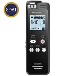 TOOBOM 16GB Digital Voice Recorder Voice Activated Recorder