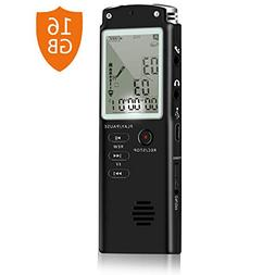 LNBEI 16GB Digital Voice Recorder Voice Activated Recorder P