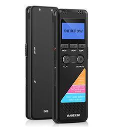 GEEDIAR Digital Voice Recorder,8GB Voice Activated Recorder