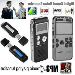 Voice Recorder Dictaphone HIFI MP3 Player Audio Recording Pe