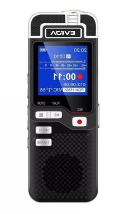 EVIDA Voice Recorder for Lectures Rechargeable Digital Voice