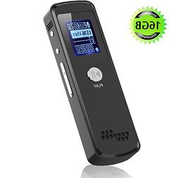 Digital Voice Recorder,16G Portable Mini Slim Multifunctiona
