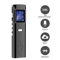 Digital Voice Recorder - 16GB Audio Voice Activated Recorder