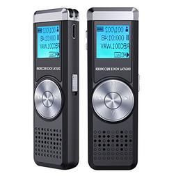 Digital Voice Recorder, TENSAFEE 8g Audio Voice Activated Re