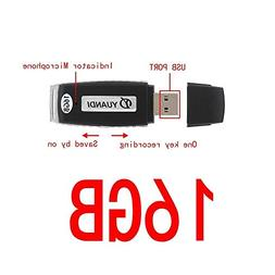 Digital Voice Recorder 16GB USB Portable Digital Audio Voice