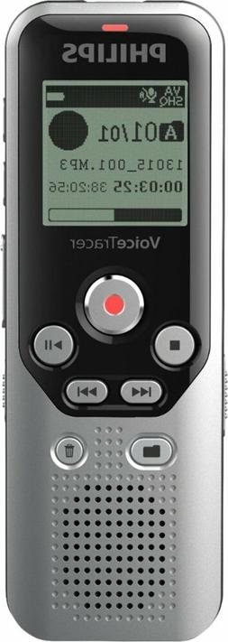Philips - VoiceTracer Digital Audio Recorder - Dark Silver &
