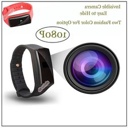 Wireless Hidden Spy Camera Bracelet Mini Smart 1080P Video V